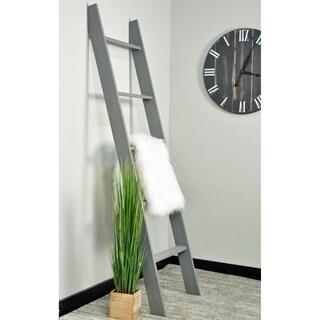 Farmhouse Grey 72 in. Decorative Blanket Ladder