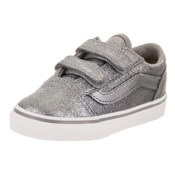 c98f7a1485775e Shop Vans Toddlers Old Skool V (Glitter + Metallic) Skate Shoe ...