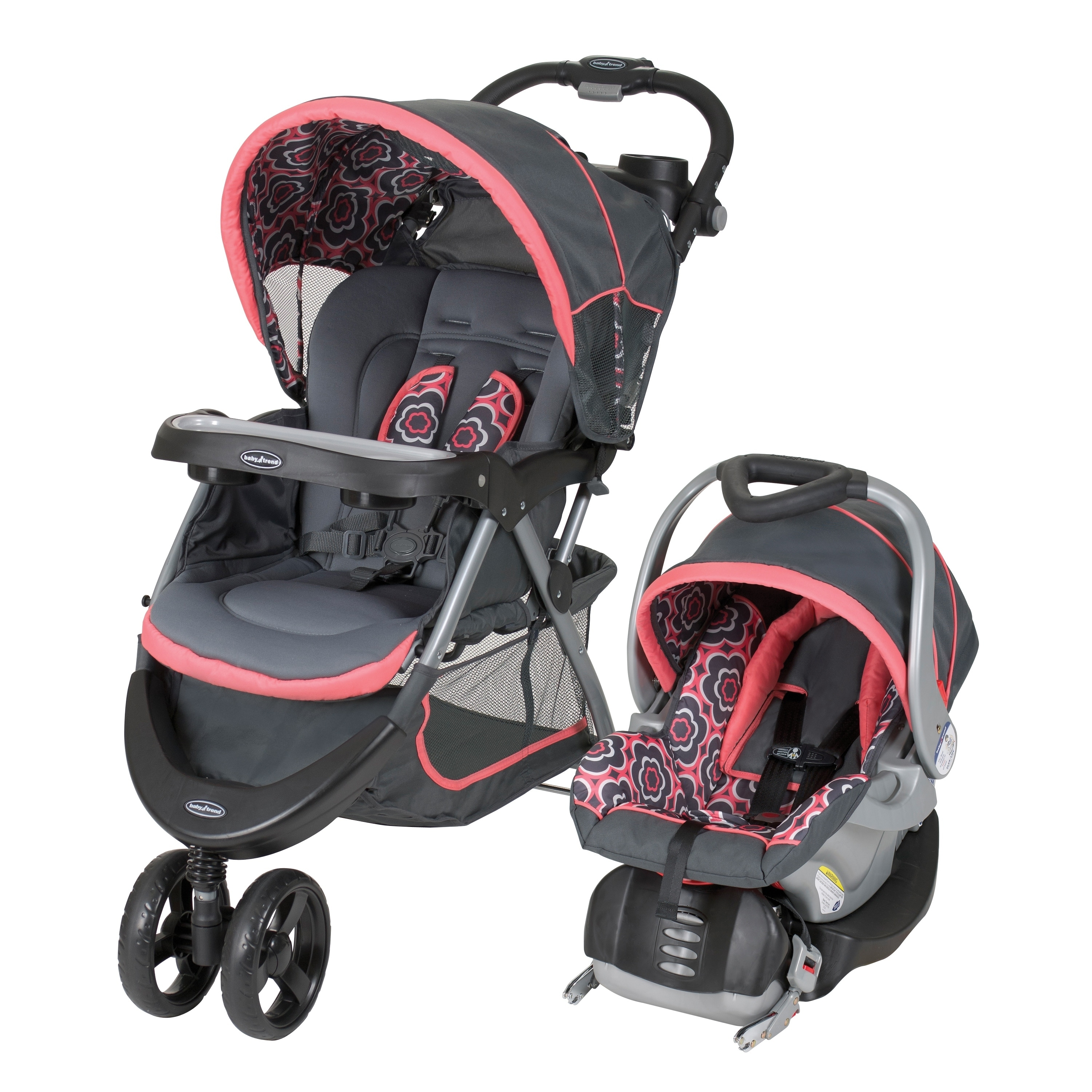 Baby Trend Nexton Travel System,Coral Floral, Grey
