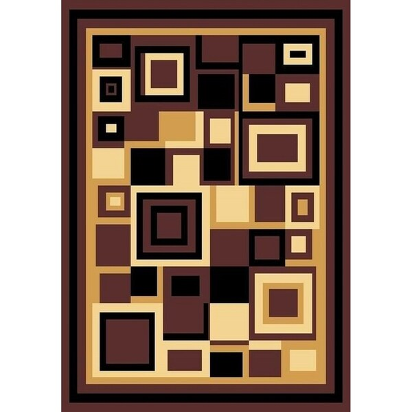 "Cambridge Contemporary Block Multi Color Area Rug - 7'9"" x 10'6"""