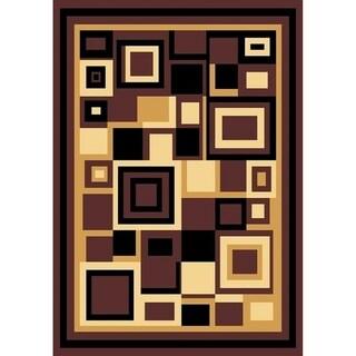 Cambridge Contemporary Block Multi Color Area Rug - 9'3 x 12'6
