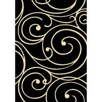 Cambridge Layfayette Black/Off White Area Rug - 6'6 x 9'6