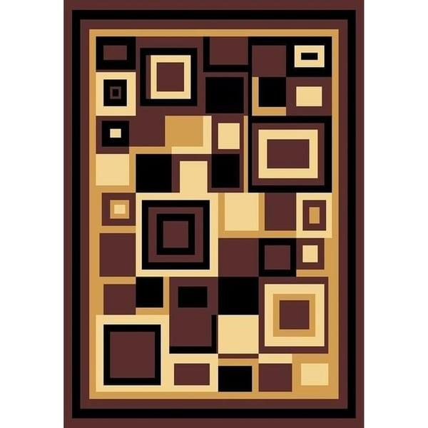 Cambridge Contemporary Block Multi Color Area Rug - 12' x 15'