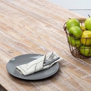 Farmhouse Tabletop Kitchen VHC Charley Napkin Set of 6 Linen Striped - 18x18