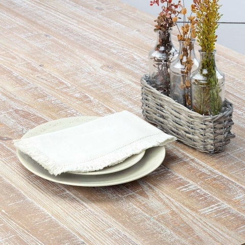 Farmhouse Tabletop Kitchen VHC Haven Napkin Set of 6 Cotton Solid Color Tobacco Cloth - Napkin 18x18