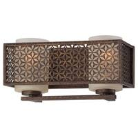Minka Metropolitan Ajourer Bronze 2-Light Bath Fixture