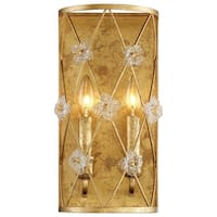 Metropolitan Minka Victoria Park Gold Finish Steel/Glass 2-light Wall Sconce