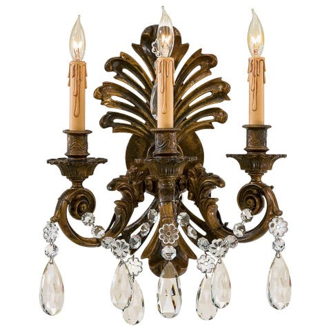 Stained Gold 3 Light Wall Sconce by Minka Metropolitan