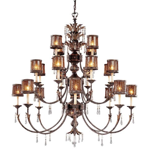 Sanguesa Sanguesa Patina 22 Light Chandelier by Minka Metropolitan