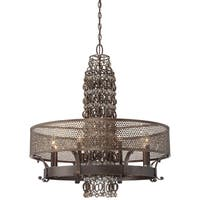 Minka Metropolitan Ajourer 8 Light Chandelier - Bronze