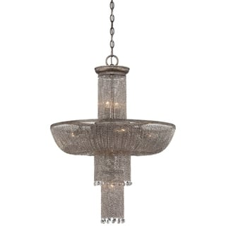 Crystal metropolitan chandeliers for less overstock minka metropolitan shimmering falls 12 light pendant silver aloadofball Gallery