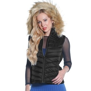 Ladies packable down vest