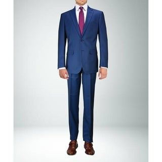 Carlo Studio Blue on Blue Pattern Suit