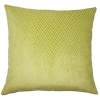 Delora Solid Down Filled Throw Pillow in Grass