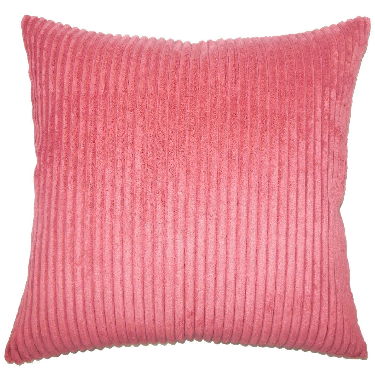 Calvine Solid Down Filled Throw Pillow in Berry (Square - 18 x 18)