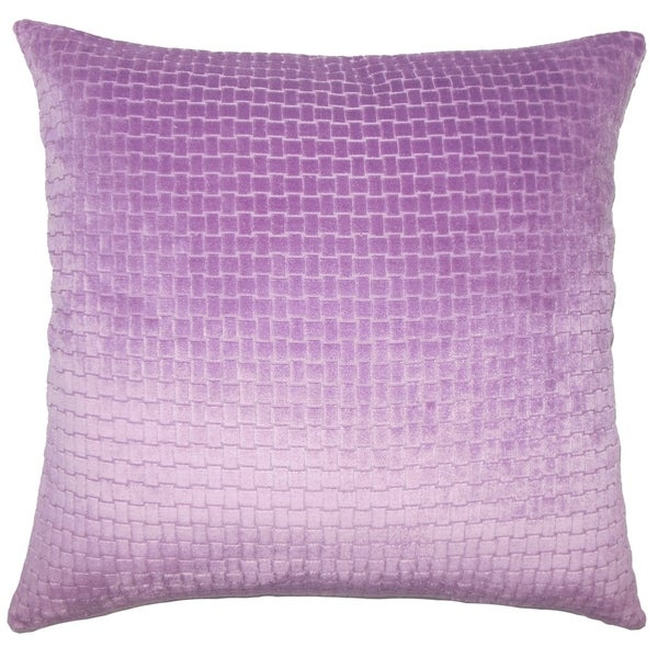 Earleen Solid Down Filled Throw Pillow in Lilac