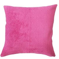 Haines Solid Down Filled Throw Pillow in Azalea