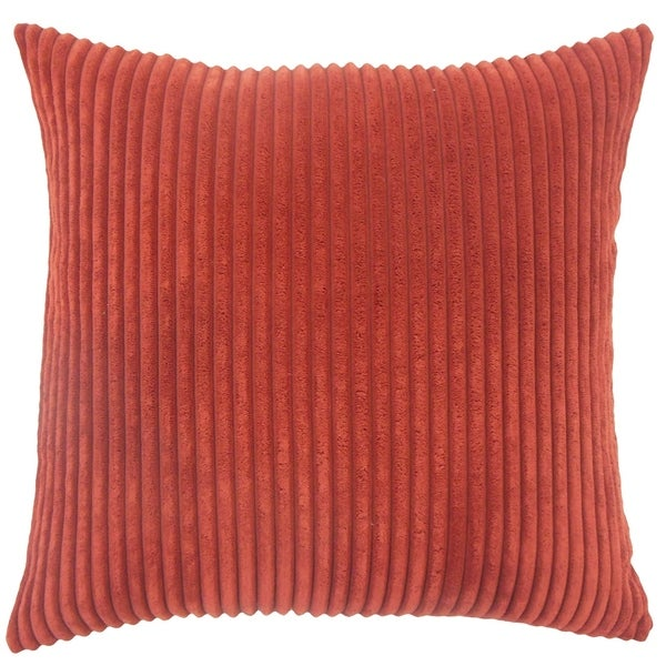 Calvine Solid Down Filled Throw Pillow in Crimson