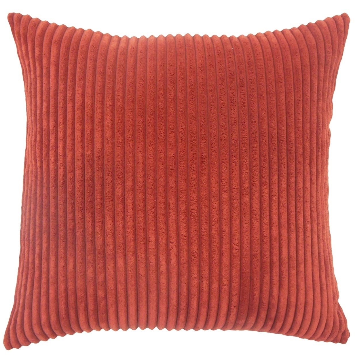 Calvine Solid Down Filled Throw Pillow in Crimson (Square - 18 x 18)