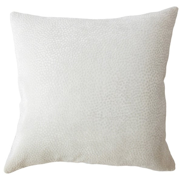 Haines Solid Down Filled Throw Pillow in Mushroom