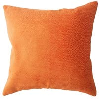 Haines Solid Down Filled Throw Pillow in Orange