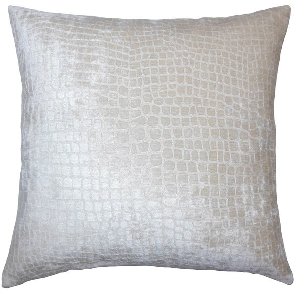 Fiachra Solid Down Filled Throw Pillow in Beige
