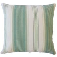Pairlee Striped Down Filled Throw Pillow in Seaglass