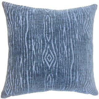 Indira Solid Down Filled Throw Pillow in Navy