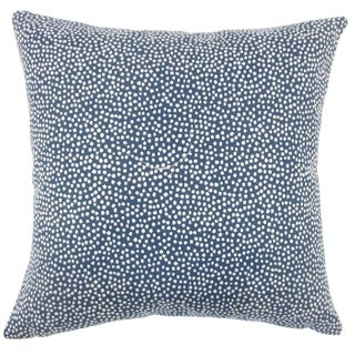 Latiece Ikat Down Filled Throw Pillow in Navy
