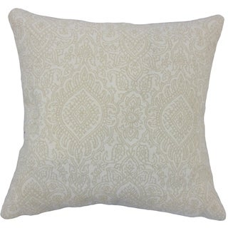 Hessa Damask Down Filled Throw Pillow in Jute