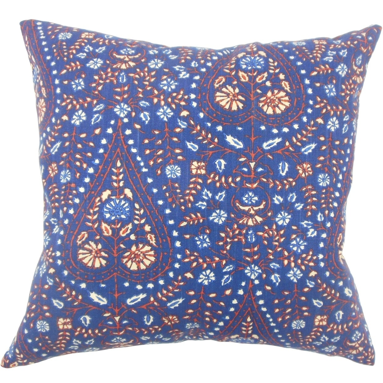 Jaetyn Ikat Down Filled Throw Pillow In Indigo Overstock 18075240 Rectangle 12 X 18