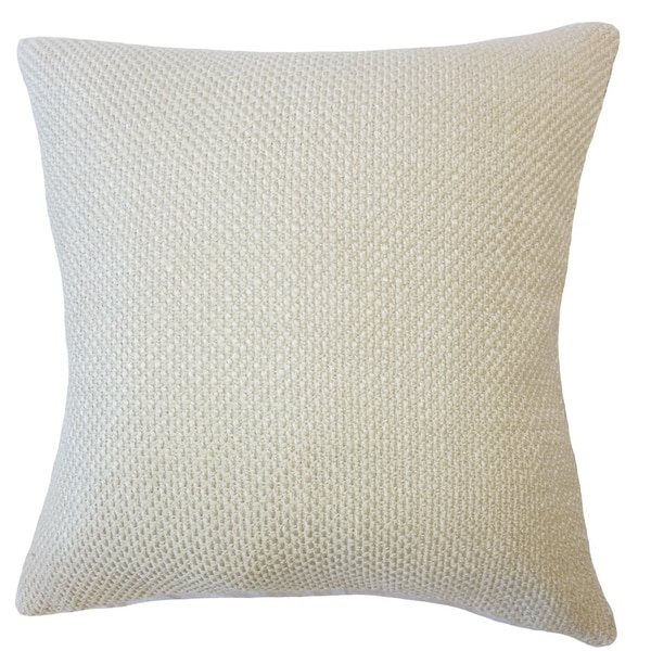 Xabier Solid Down Filled Throw Pillow in Sesame