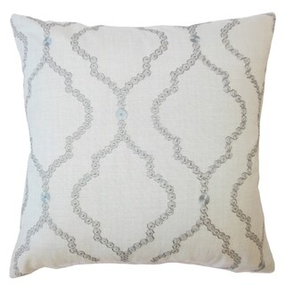 Gabrille Geometric Down Filled Throw Pillow in Mineral