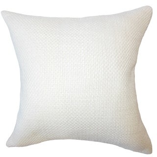Xabier Solid Down Filled Throw Pillow in Antique White