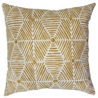 Iakovos Geometric Down Filled Throw Pillow in Golden Rod