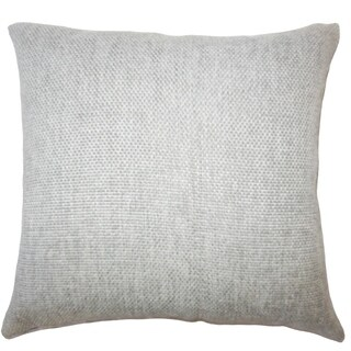 Yuna Solid Down Filled Throw Pillow in Grey