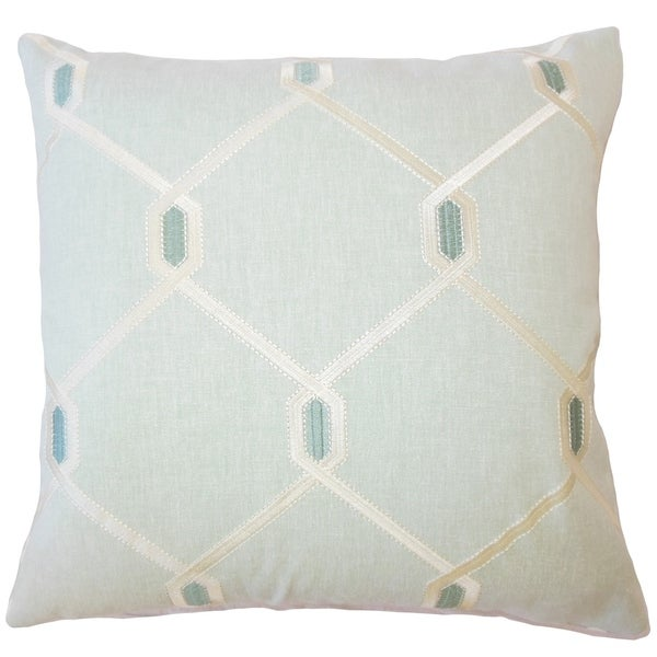 Eadith Geometric Down Filled Throw Pillow In Seagreen