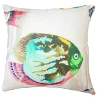Zelig Nautical Down Filled Throw Pillow in Caribbean