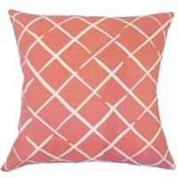 Parham Geometric Down Filled Throw Pillow in Rhubarb