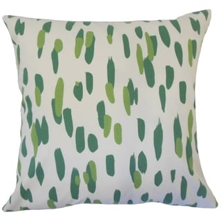Velica Graphic Down Filled Throw Pillow in Palm
