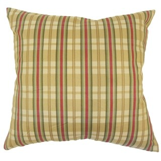 Eero Plaid Down Filled Throw Pillow in Gold
