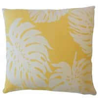 Quince Floral Down Filled Throw Pillow in Sunshine