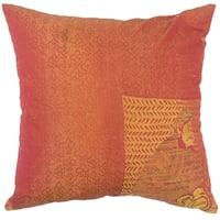 Uri Graphic Down Filled Throw Pillow in Orange