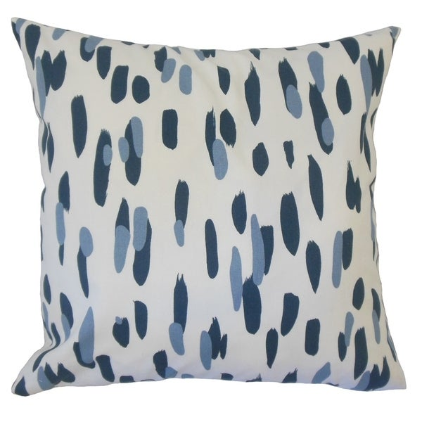 Najinca Graphic Down Filled Throw Pillow in Indigo