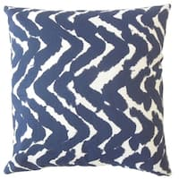 Cachae Zigzag Down Filled Throw Pillow in Indigo