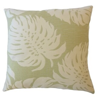 Quince Floral Down Filled Throw Pillow in Palm