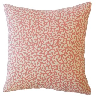Verena Coastal Down Filled Throw Pillow in Coral