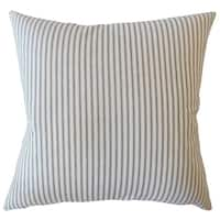 Fabius Striped Down Filled Throw Pillow in Navy