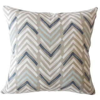 Barend Geometric Down Filled Throw Pillow in Driftwood