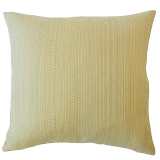 Thanh Striped Down Filled Throw Pillow in Sand